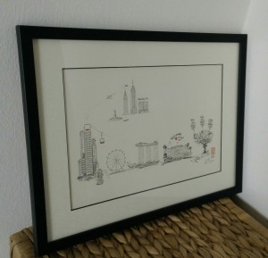 A4 framed SG NYC