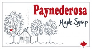 Paynederosa maple syrup label